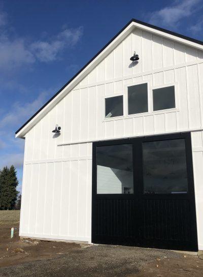 A White Modern Barn
